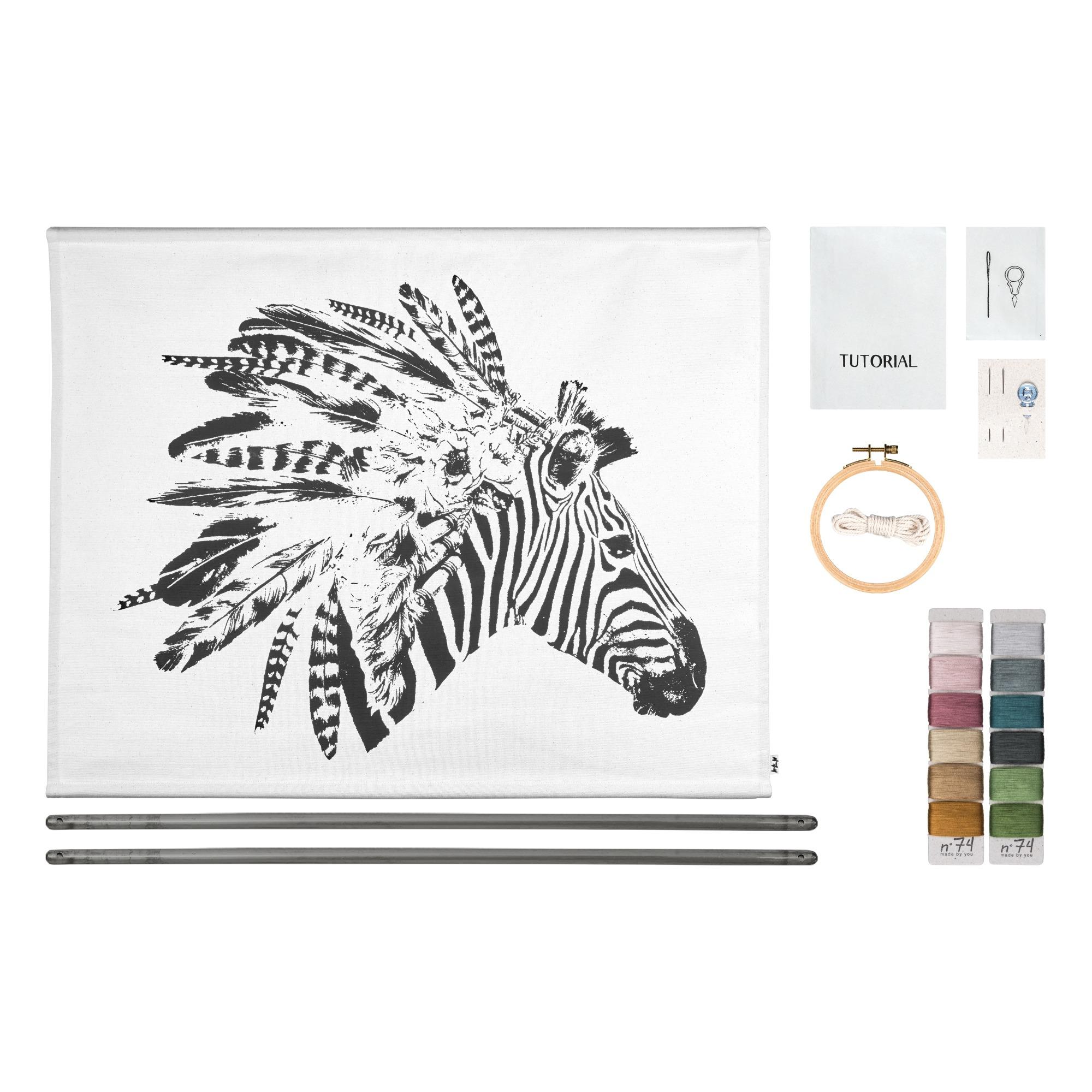 Angebot: Poster zum Besticken Zebra