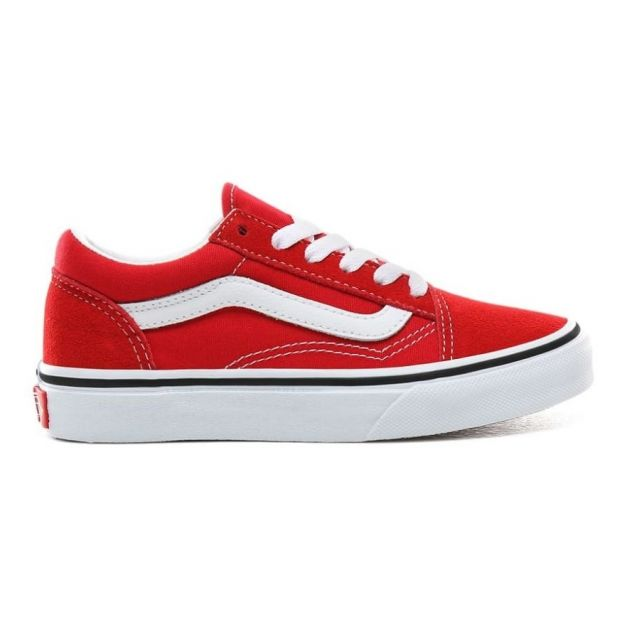 Baskets Suede Lacets Old Skool Rouge