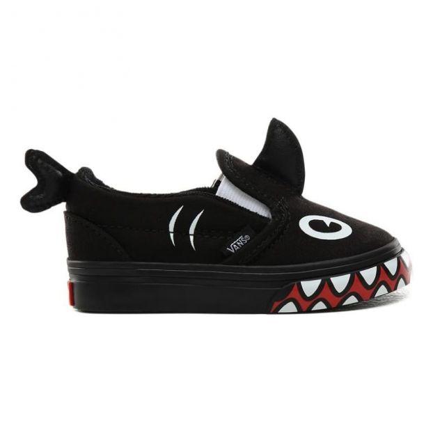 Shark Slip Ons Black Vans Shoes Baby , Children