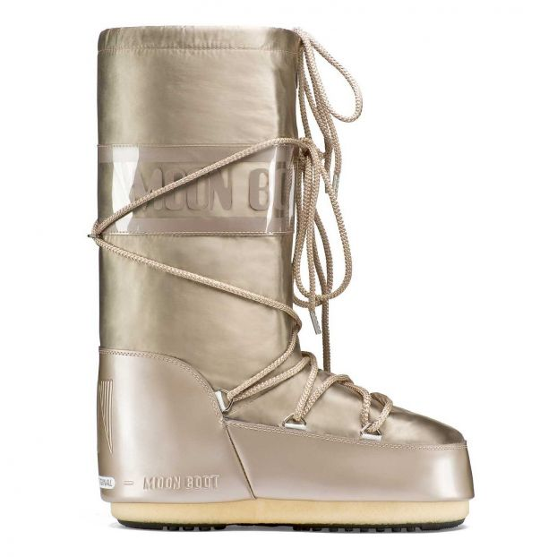 límpido a la vista límpido a la vista rendimiento confiable Glance Moon Boots Dorado