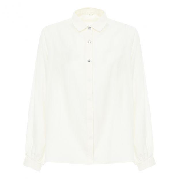 Chemise Coton Laine Blanc