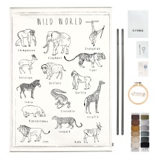 product-Numero 74 Animals DIY Poster Embroidery Kit