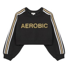 product-Hundred Pieces Aerobic cropped sweatshirt