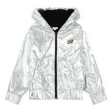 product-Hundred Pieces Shiny jacket with zip