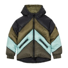 product-Hundred Pieces Colour Block puffer jacket