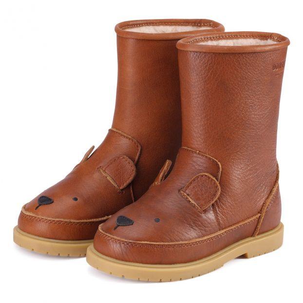 Stiefel gefüttert Bär Wadudu Cognac Farbe