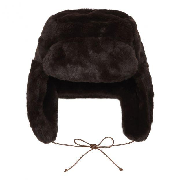 460a0be9f Faux Fur Trapper Hat Brown