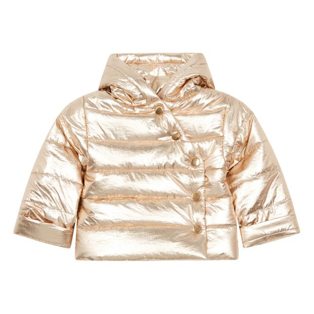 10346bebc Givre Lamé Down Jacket Gold