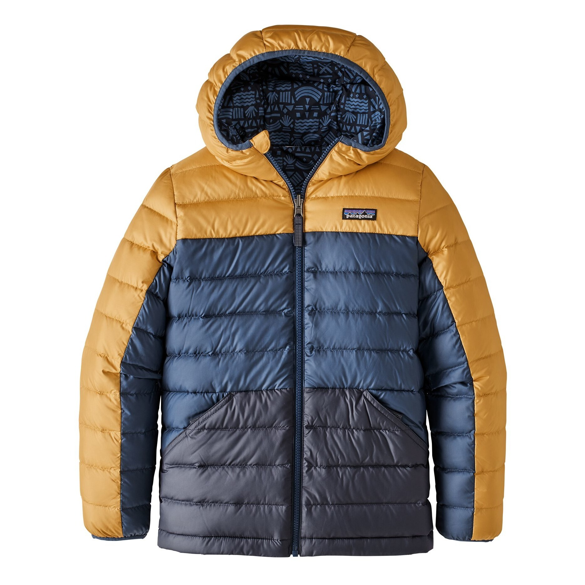 Recycled Down Jacket Navy blue