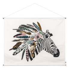 product-Numero 74 Zebra Embroidered Poster