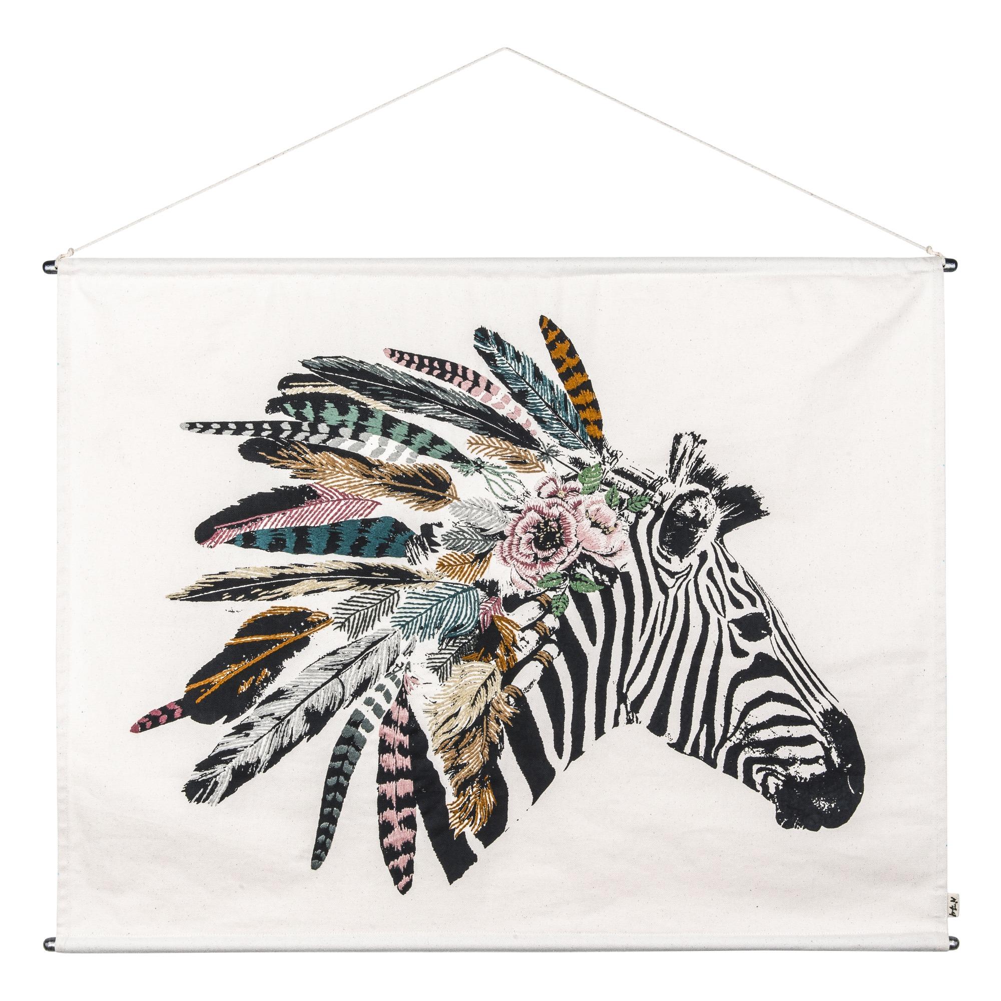 Besticktes Poster Zebra
