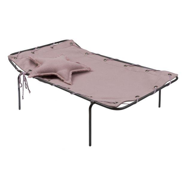 Lit de camp pour poupée Dusty Pink S007