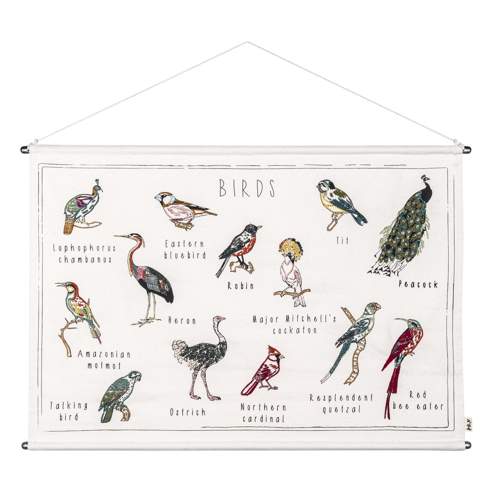 Poster bestickt Vögel