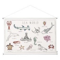 product-Numero 74 Marine Animals Embroidered Poster