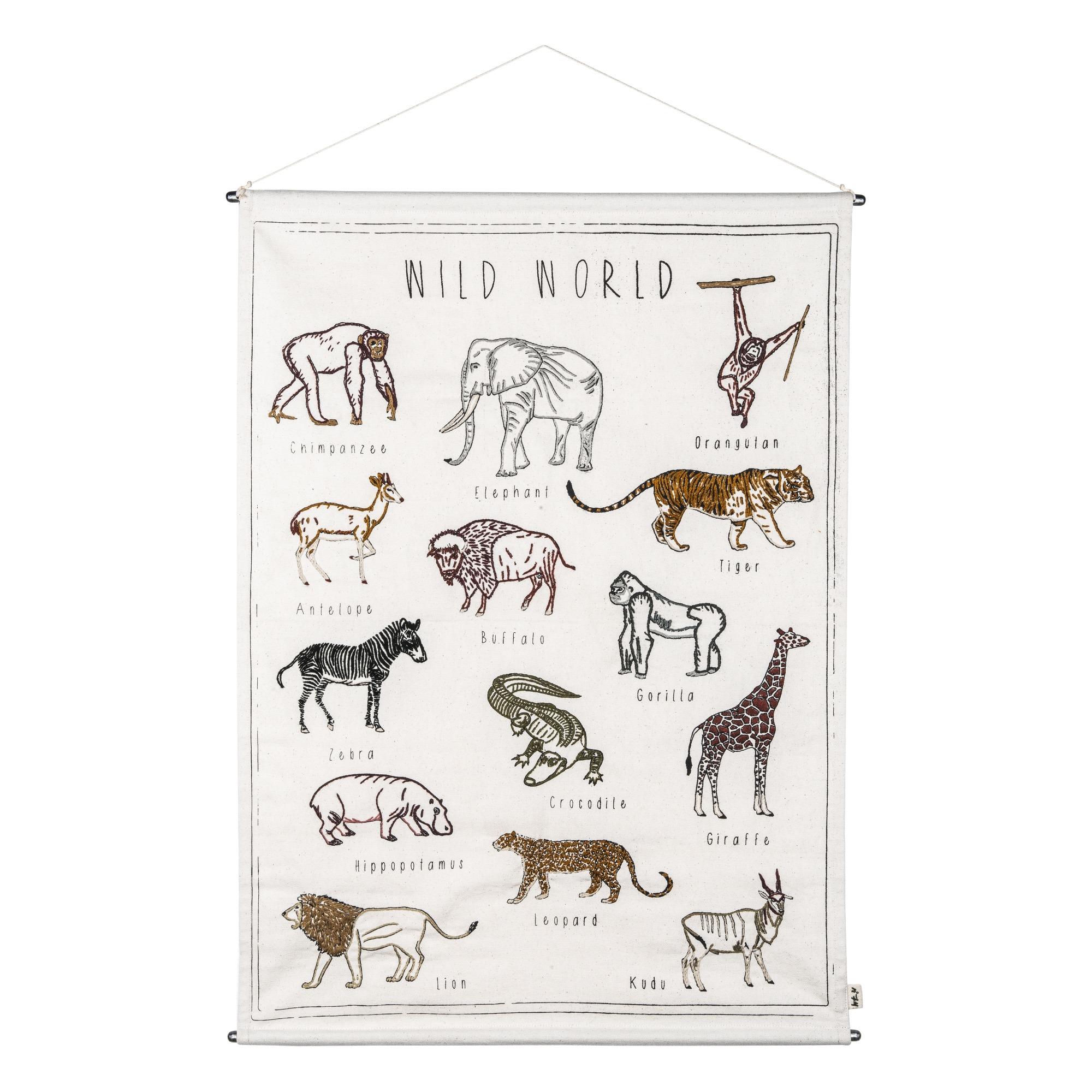 Kauf-Tipp: Poster bestickt Wilde Tiere