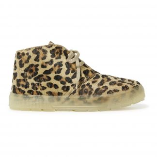 super popular 78265 77314 Sneakers Lacci Leopardo Camel