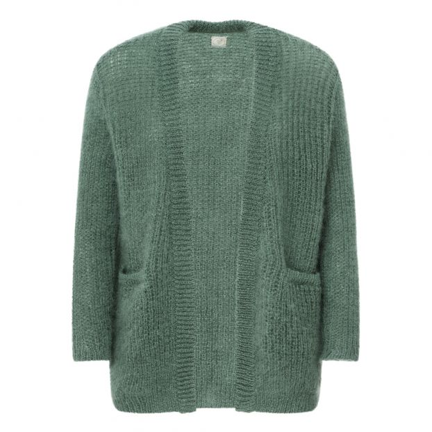 Delise Mohair Cardigan Green Water by Smallable