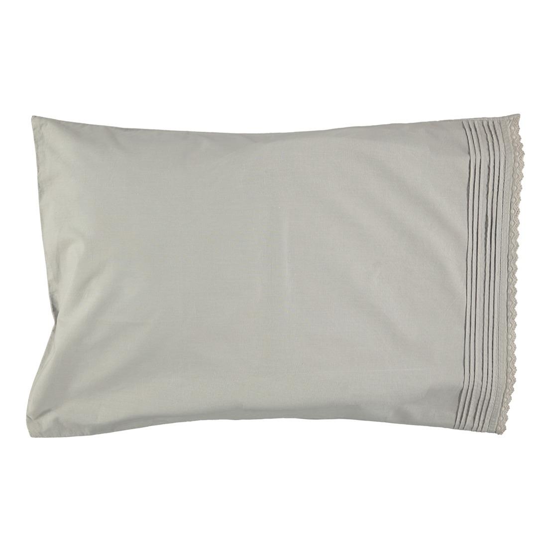 Cotton Poplin Pillow Case Grey Camomile