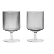 product-Ferm Living Verres à vin Ripple - Set de 2