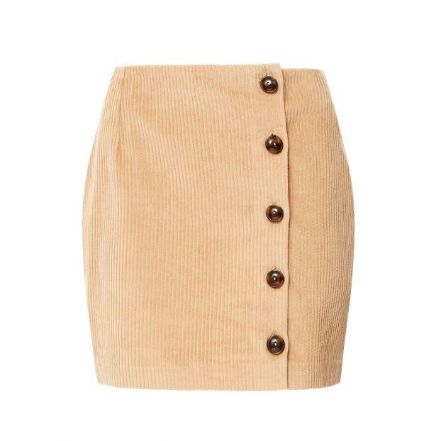 Ritoum Ribbed Velvet Skirt Beige by Smallable