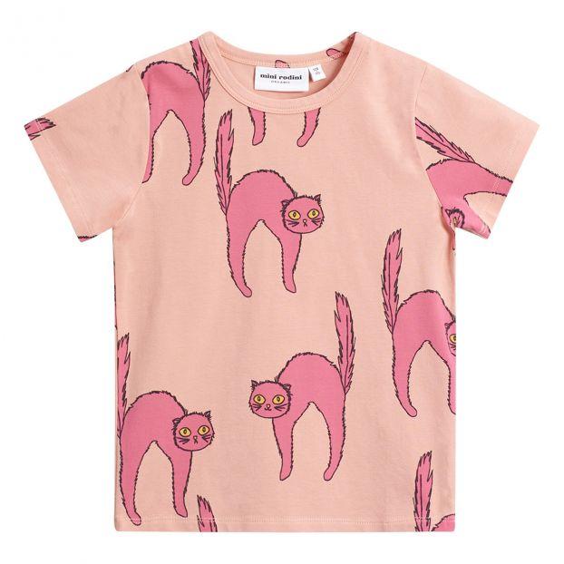 T Shirt Cat Bio Baumwolle Rosa