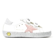 product-Golden Goose Deluxe Brand Old School Glitter Velcro Leather Trainers