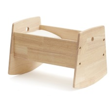 product-Kid's Concept Wooden Doll Cradle