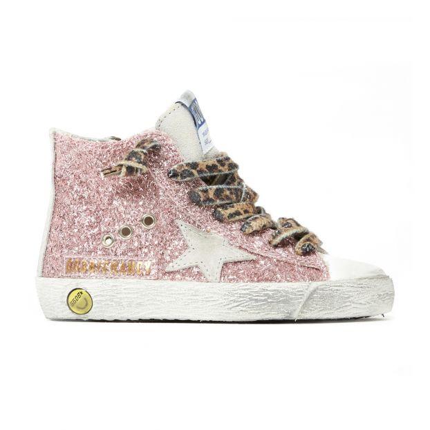 Wildleder Leopard Rosa Tennis Chaussures de ReißverschlussPailletten Und Francy Mit Schnürsenkeln nZ0wkN8PXO