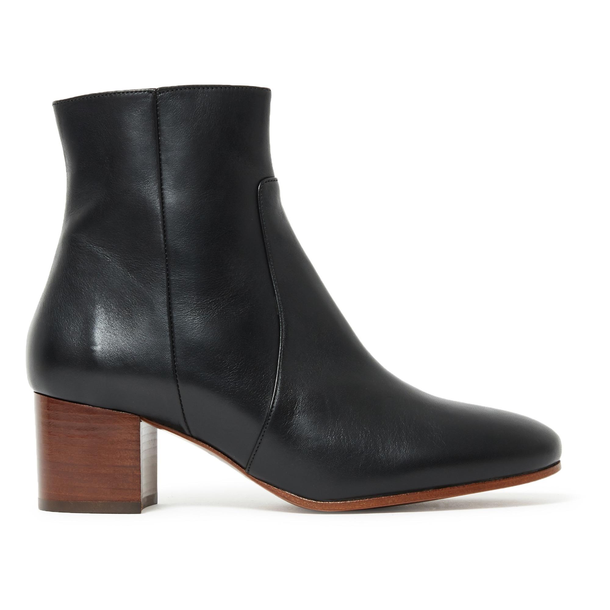 Bottine Cuir n°298 Noir Rivecour Chaussure Adulte