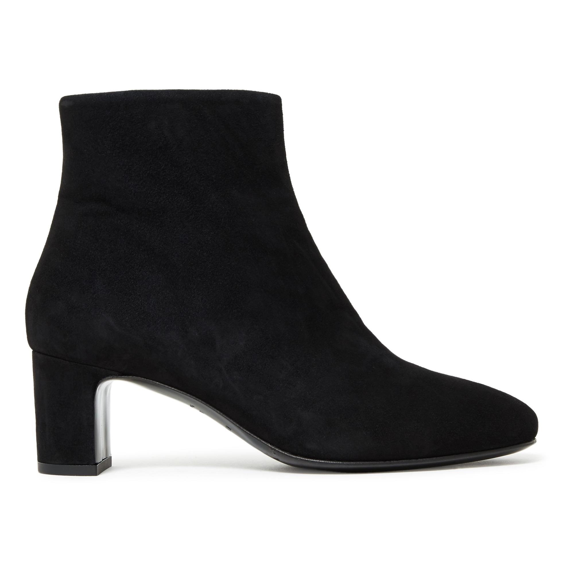 Nâ°290 Velvet Kid Leather Ankle Boots