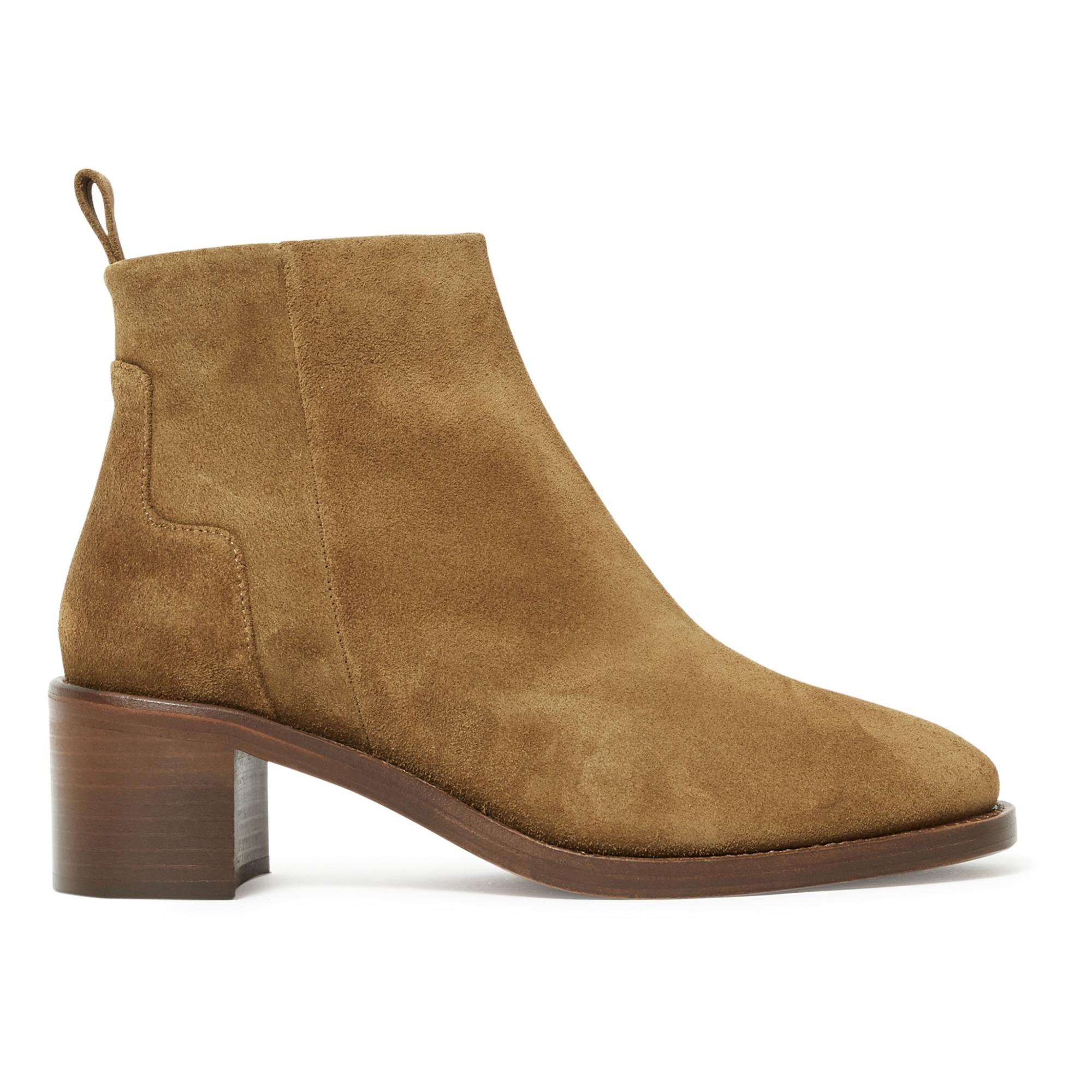 Nâ°286 Velvet Calfskin Ankle Boots