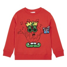 product-Stella McCartney Kids Organic Cotton Sweatshirt with Detachable Badges - Christmas Collection -