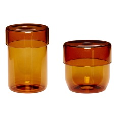 product-Hübsch Glass Pots - Set of 2