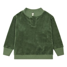 product-We Are Kids Leonard Organic Cotton Velvet Polo Shirt