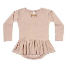 product-Quincy Mae Organic Cotton Pointelle Bodysuit Dress
