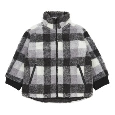product-Stella McCartney Kids Veste Façon Fourrure Carreaux