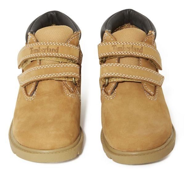 Boots mit Klettband Chucca Kamelbraun Timberland Schuh
