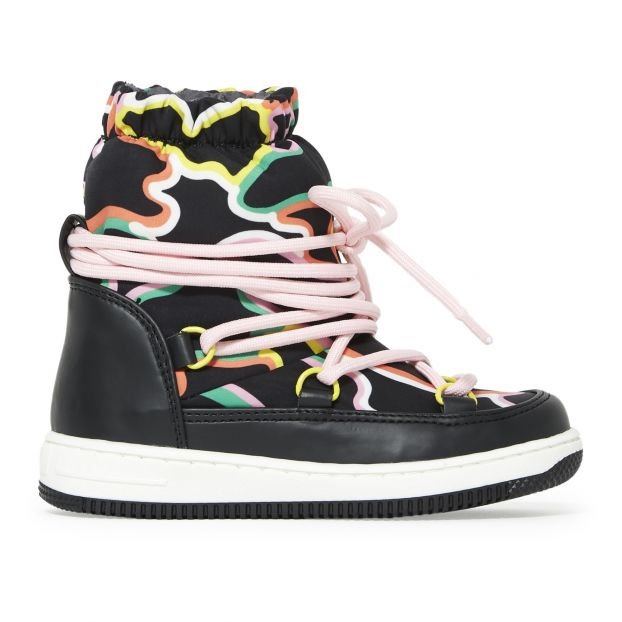 Camo Snow Boots Black Stella McCartney