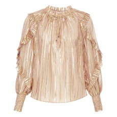 product-Ulla Johnson Blouse Soie et Lurex Lucinda
