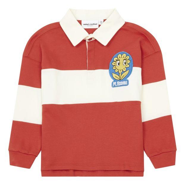 Polo Rugby Coton Bio Rouge Mini Rodini Mode