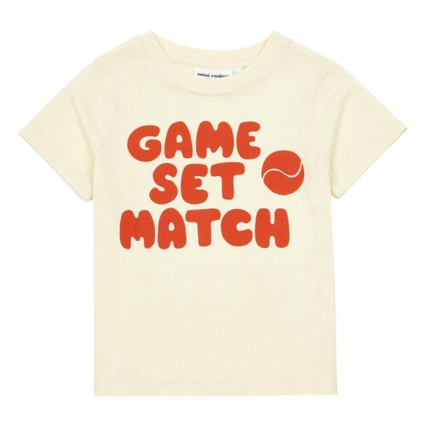 T shirt Game Set Match Coton Bio Rouge