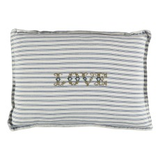 product-Camomile London Striped Embroidered Cushion 22x30 cm