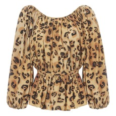 product-Mara Hoffman Blouse Leopard Maud