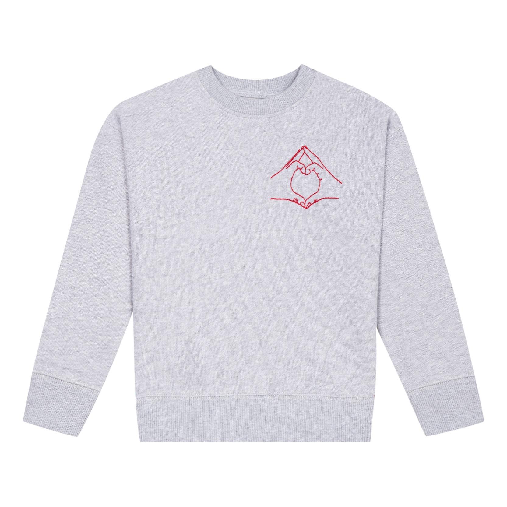 OK: Sweatshirt Hand Love