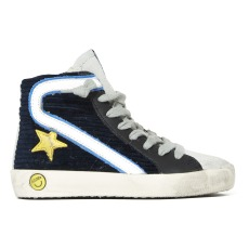 product-Golden Goose Deluxe Brand Slide Velvet Zipper Laced Trainers