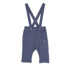 product-Emile et Ida Two-material Suspender Trousers
