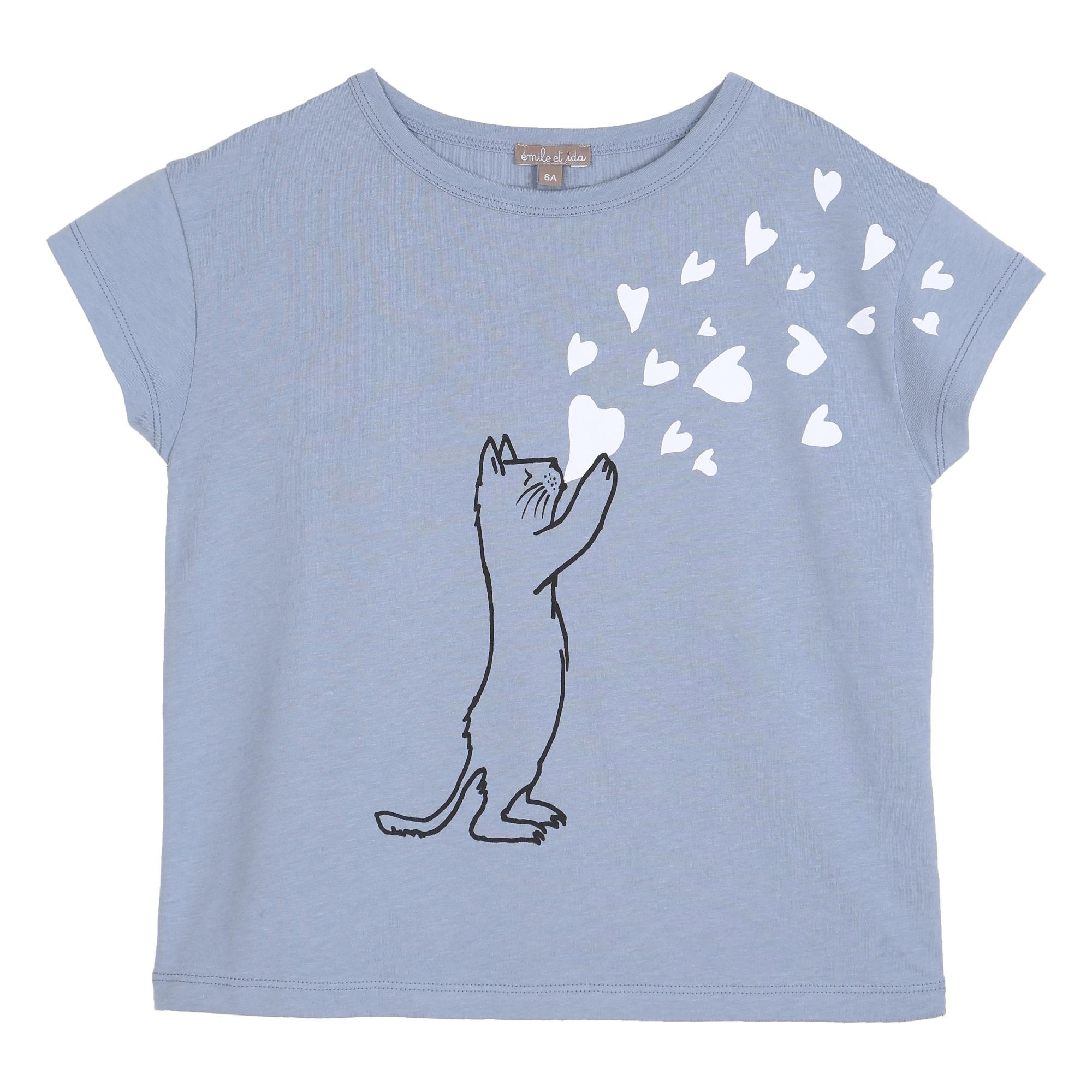 T-shirt Chat Cœurs