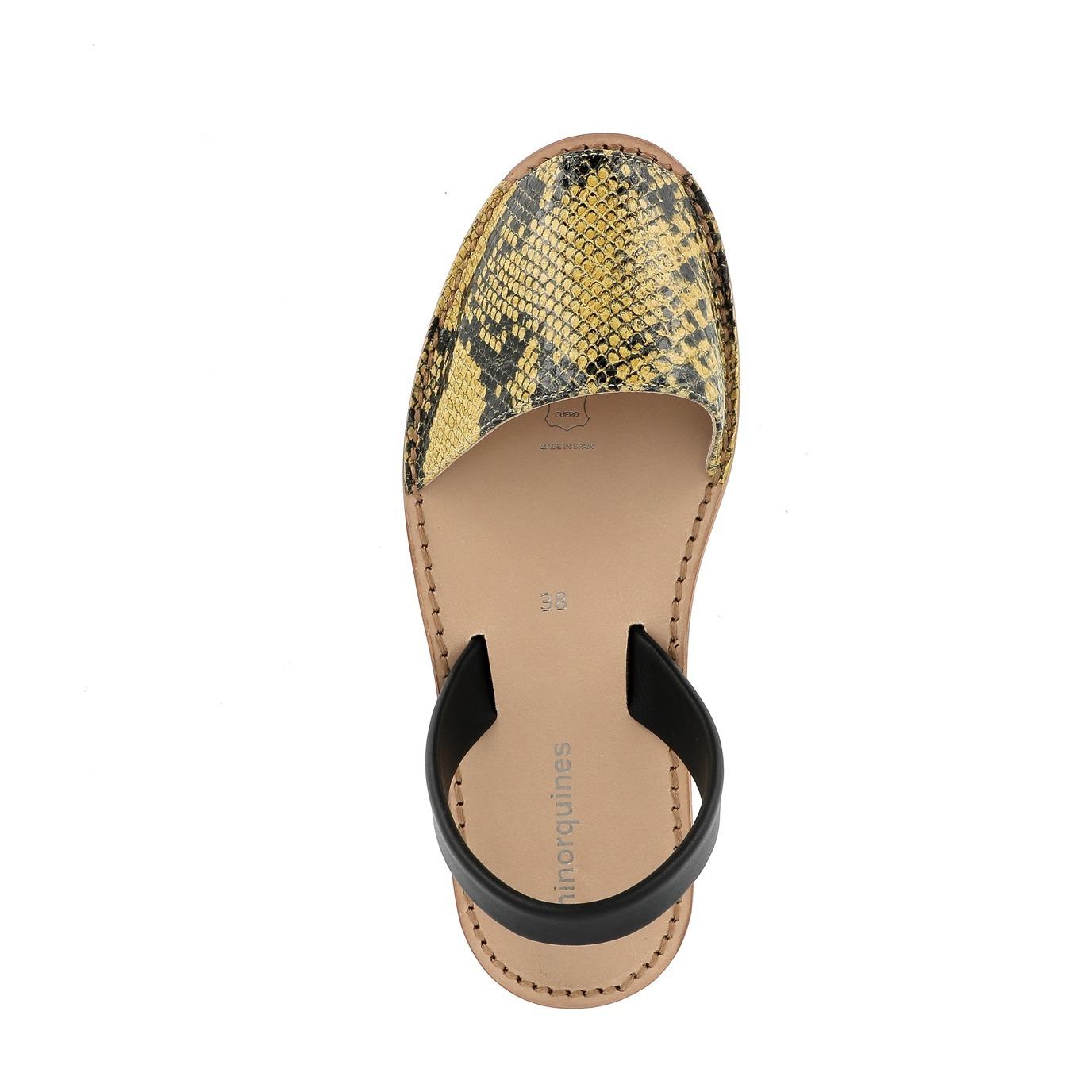 Sandales Cuir Compostelle Collection Ado et Femme Noir
