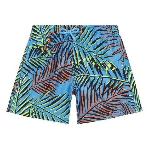 Toddler Kids Petit Bateau Striped Swim Shorts Blue//White-5 Years