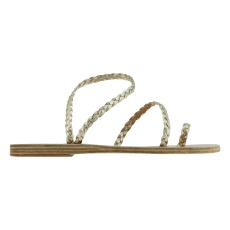 product-Ancient Greek Sandals Eleftheria Braided Leather Sandals - Women's Collection -